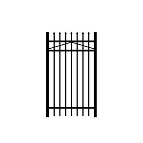 Allure Aluminum Worthington 3 ft. x 4 ft. Black Aluminum 3-Rail Fence Gate