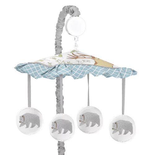 Sweet Jojo Designs Woodland Toile Collection Multicolor Musical Mobile