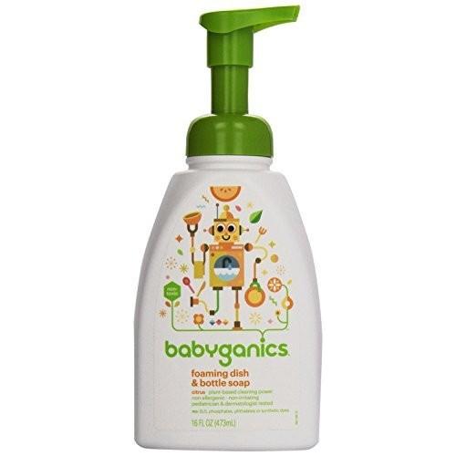 BabyGanics - Foaming Dish & Bottle Soap The Dish Dazzler Citrus - 16 oz. [Citrus]