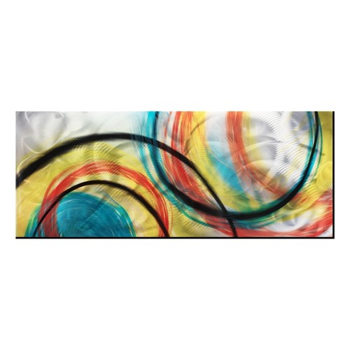 Rainbow Seasons' Modern Abstract Metal Wall Art