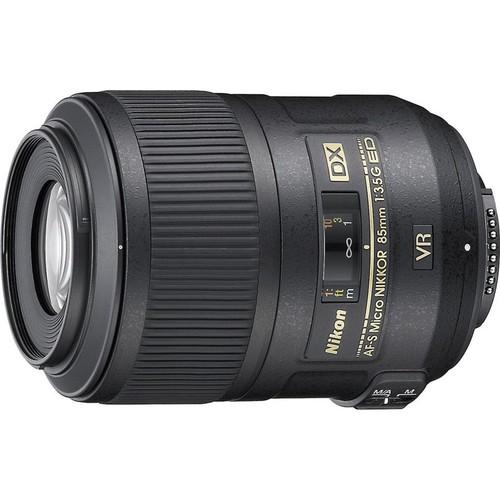 Nikon AF-S DX Micro Nikkor 85mm f/3.5G ED VR Medium telephoto macro prime lens for DX format Nikon DSLR cameras