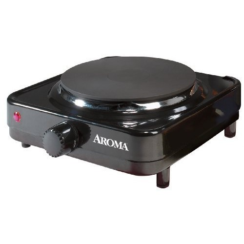 Aroma Housewares AHP-303/CHP-303 Single Hot Plate, Black [Single]