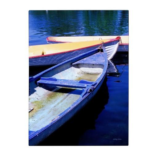 Trademark Fine Art Kathy Yates 'Bois de Boulogne Boats' Canvas Art 30x47 Inches