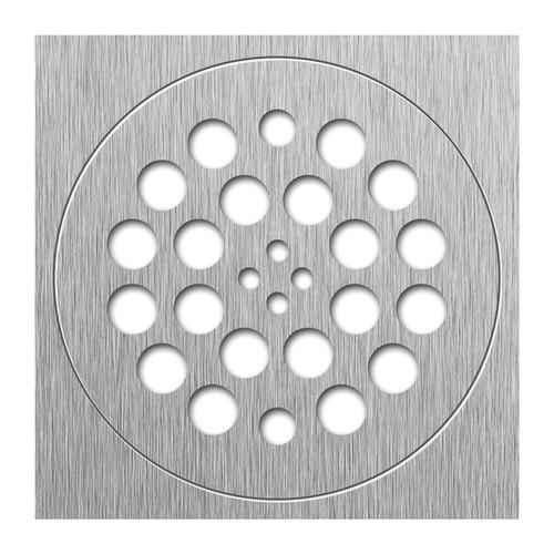Redi Drain 14 Gauge Stainless Steel Drain Plate 2 pieces SQ Trim RD Drain Plate Brushed Nickel finish 2 matching screws