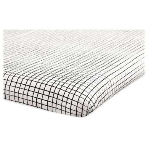 Babyletto Mini Fitted Crib Sheet - Tuxedo Monochrome Grid