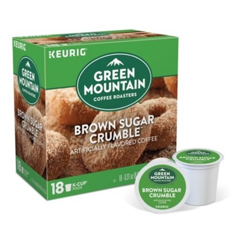 Keurig K-Cup Pod Green Mountain Brown Sugar Crumble Donut Medium Roast Regular Coffee - 18-pk.