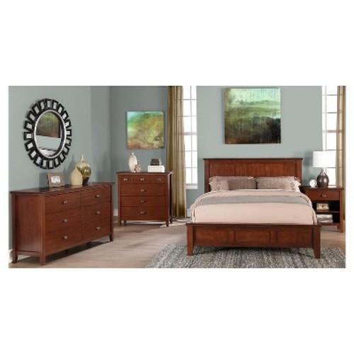 Artisan Bedroom Bedside Table Medium Auburn Brown - Simpli Home