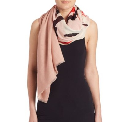 STELLA MCCARTNEY Abstract Swan-Print Wool & Silk Scarf