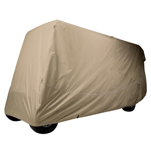 Classic Accessories Fairway Extra-Long Roof Golf Car Quick-Fit Cover Khaki