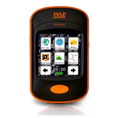 Pyle PGSPW5 GPS Navigation Sporting Unit with Built-In MP3 Player [Standard Packaging]
