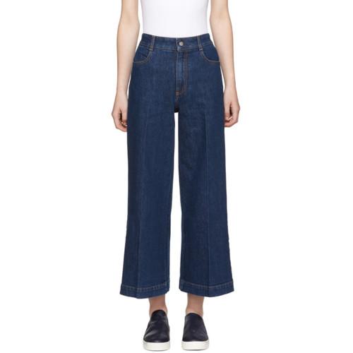 STELLA MCCARTNEY Blue Denim Wide-Leg Culottes