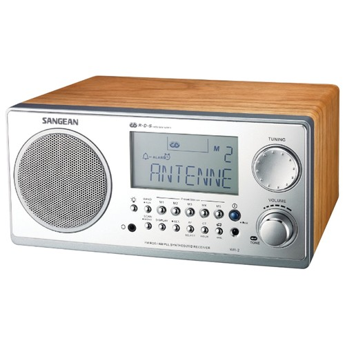 SANGEAN WR-2 WALNUT TABLE TOP RADIO