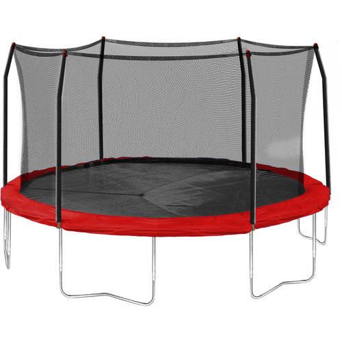 Skywalker Trampolines 15' Round Trampoline and Enclosure - Red