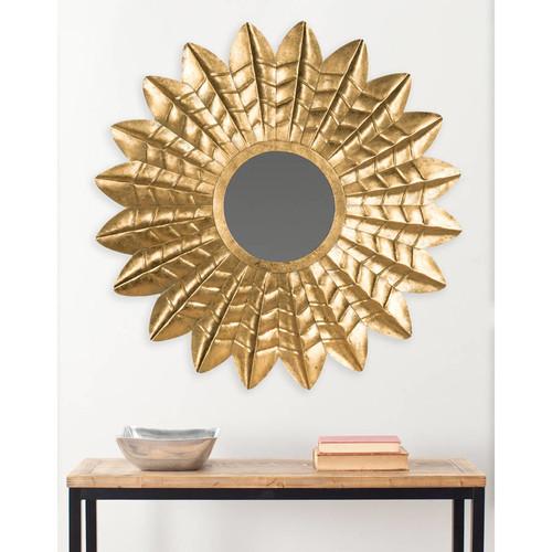 Safavieh Deco Leaf Mirror, Antique G