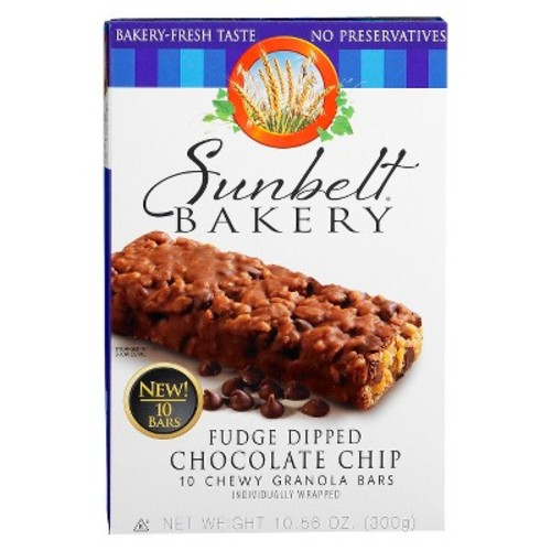Sunbelt Bakery Fudge Dipped Chocolate Chip Granola Bars 10ct