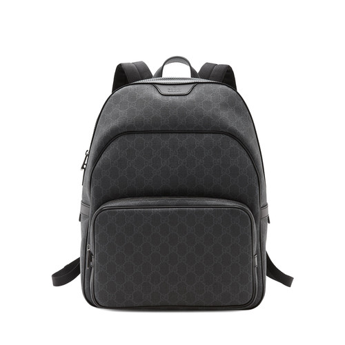 GUCCI Gg Supreme Canvas Backpack, Black