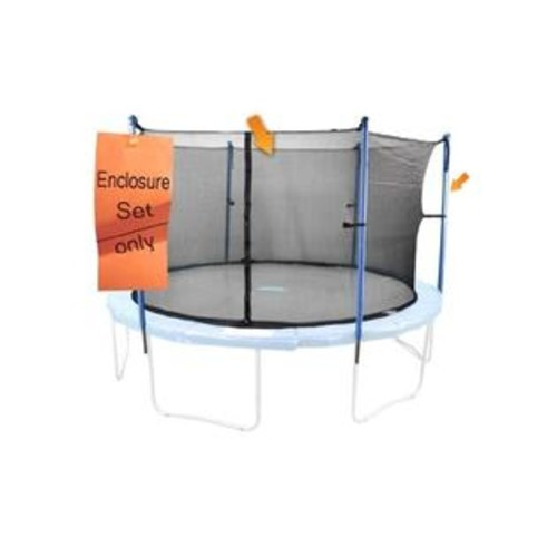 King Service Holdings Inc. Upper Bounce 6 Pole Trampoline Enclosure Set to fit 16 FT. Trampoline Frames with set of 3 or 6 W-Shaped Legs (Trampoline Not