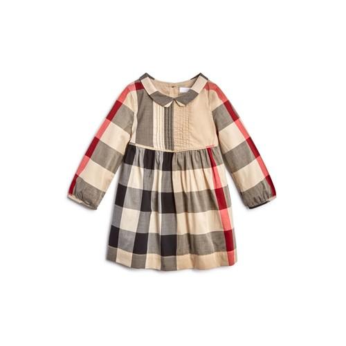BURBERRY Girls' Liz Check Dress - Baby