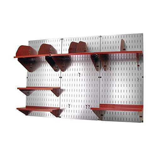 Wall Control 10-OFC-300 GVR Office Wall Mount Desk Storage and Organization Kit, Galvanized/Red [Galv/Red]