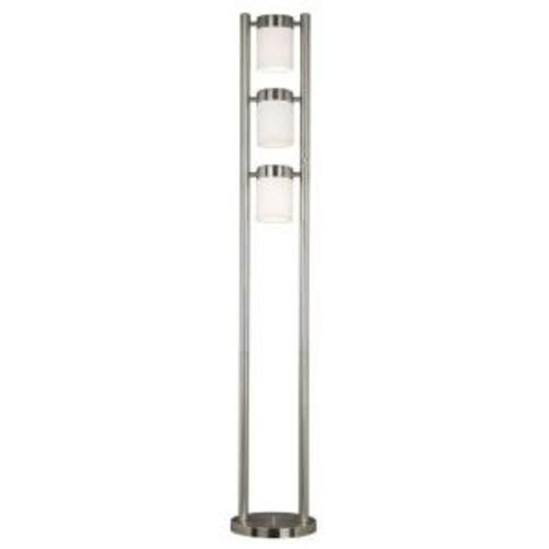 Kenroy Home Matinee 66 in. Brushes Steel Floor Lamp