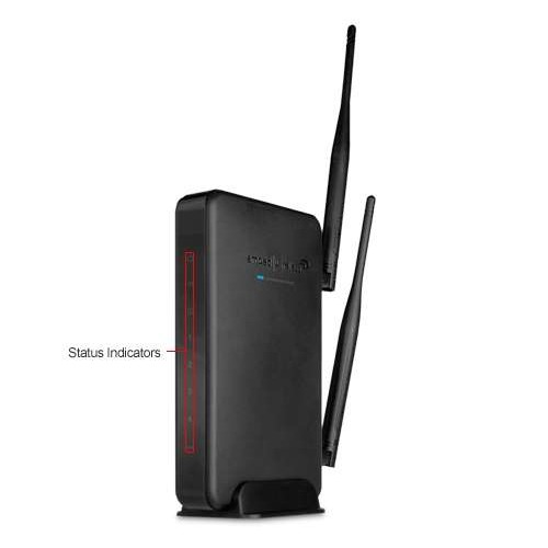Amped Wireless R10000 High Power Wireless-N 600mW Smart Router - 802.11b/g/n, 2.4GHz, 300Mbps, RJ-45
