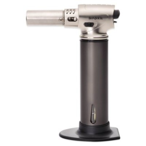 BonJour Professional Culinary Creme Brulee Torch in Stainless Steel
