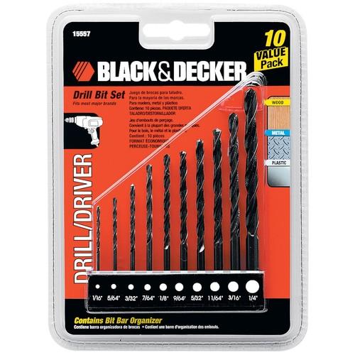 Black & Decker 15557 Drill Bit Set, 10-Piece [1]