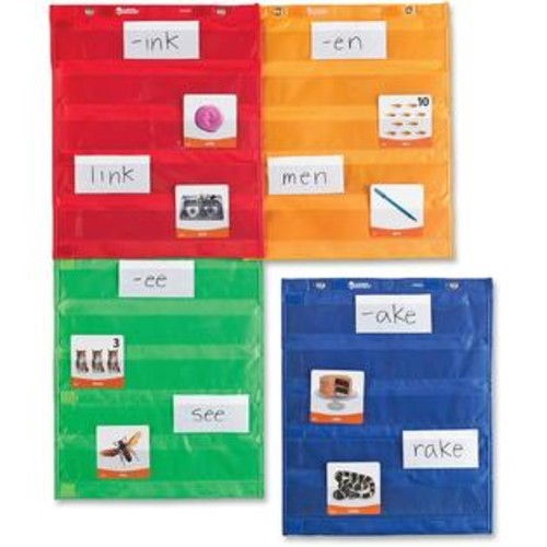 Learning Resources Magnetic Pocket Chart Squares, Set of 4