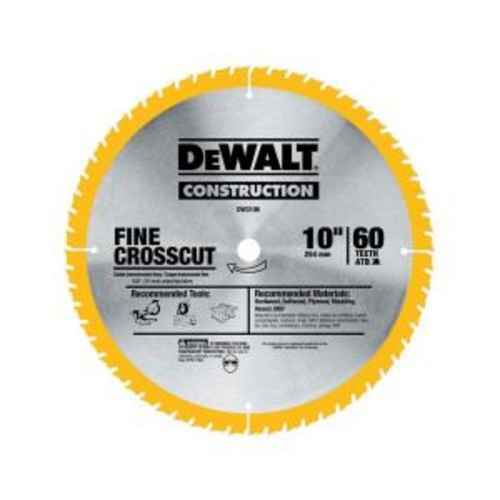 DEWALT Series 20 10 in. 60T Fine Finish Saw Blade