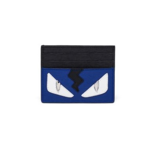 FENDI Monster Calf Leather Card Case