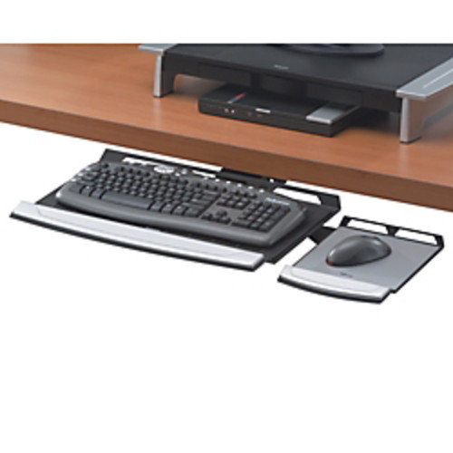 Fellowes Office Suites Adjustable Underdesk Keyboard Tray, Black/Silver
