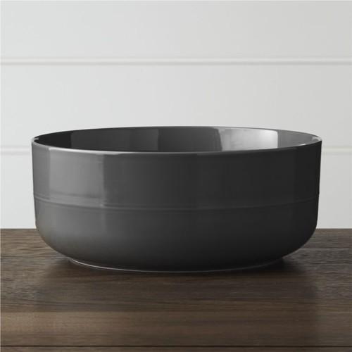 Hue Dark Grey Serving Bowl
