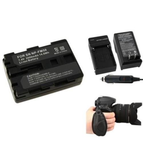 Insten 377717 4-Piece DV Battery Bundle For Sony NP-FM50/NP-FM30/Sony NP-FM500H/Nikon/Canon/Pentax