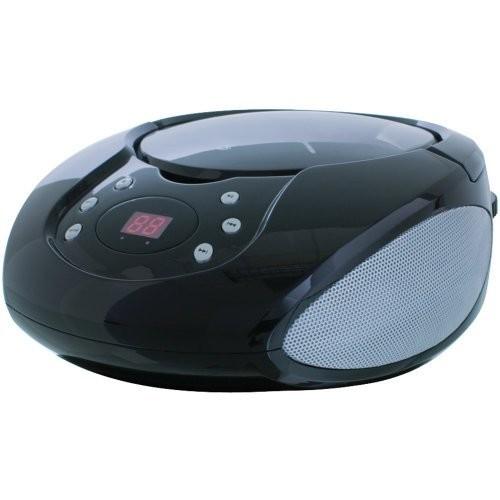 Gpx Bc112b Black Boombox Cd Am Fm Radio Digital Display