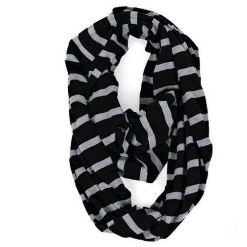 Itzy Ritzy Nursing Happens Infinity Breastfeeding Scarf - Black Stripe