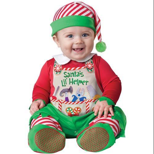 Baby Santa's Little Helper Costume sz 12-18 Months