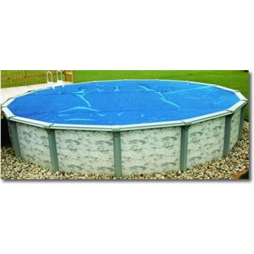Blue Wave NS500 12-mil Solar Blanket for Oval Above-Ground Pools, 18-ft x 33-ft, Clear