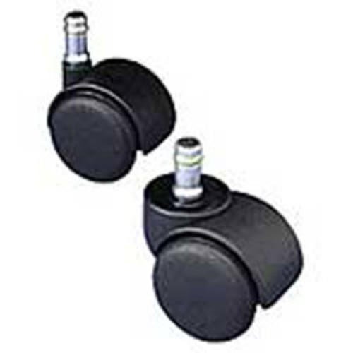 Master Caster Safety Series Casters, Soft Wheel, Oversized Neck 1 1/2