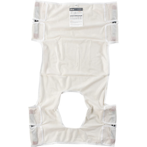 Drive Medical Patient Lift Sling, Polyester Mesh with Commode Cutout