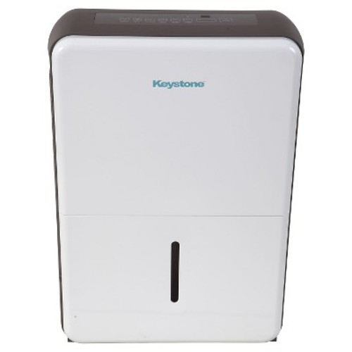 Keystone - Energy Star 70 Pint Dehumidifier - Black/White