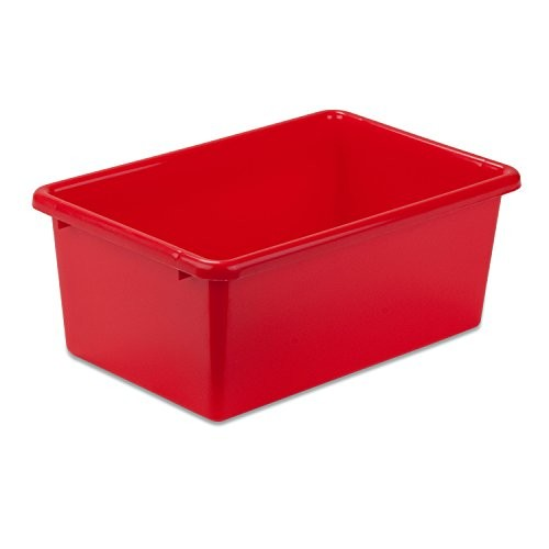 Honey-Can-Do PRT-SRT1602-SMRED Plastic Storage Bin, Small, Red [Red, Small]