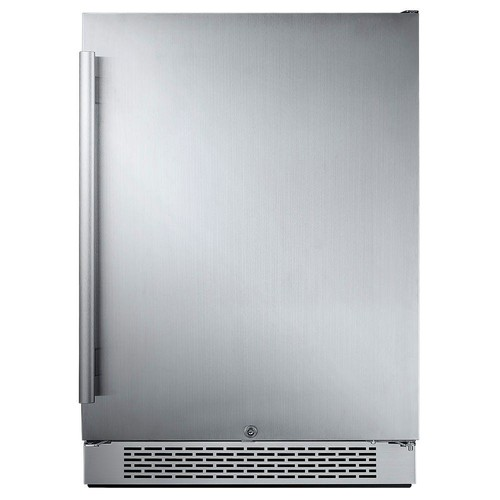 Avallon 24 in. W 5.5 cu. ft. Freezerless Refrigerator in Stainless Steel, Counter Depth