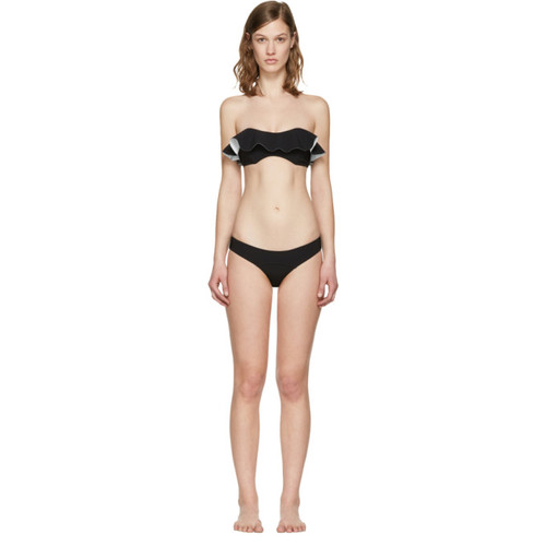 Black Natalie Flounce Bikini
