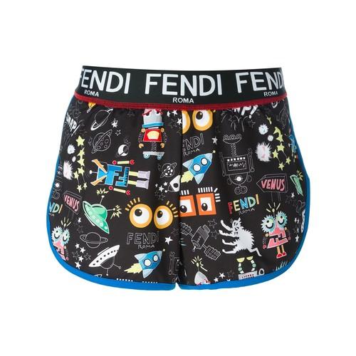 FENDI Multi Print Shorts