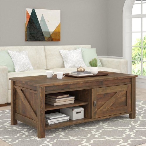 Dorel Farmington Century Barn Pine Coffee Table