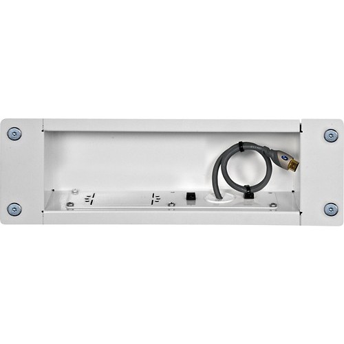 Peerless - In-Wall A/V Cable Box - White