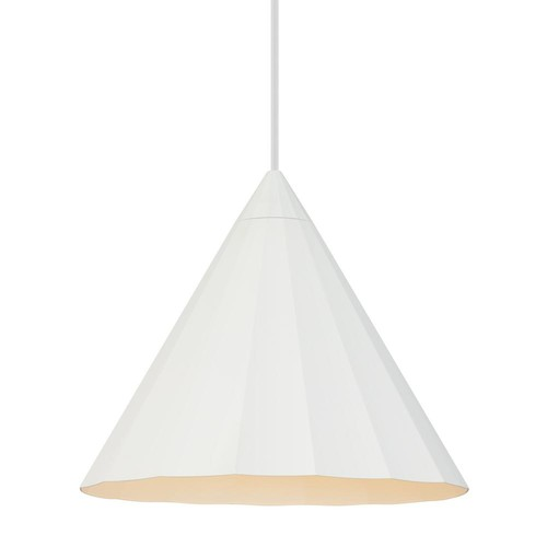 LBL Lighting Astora 1-Light White Pendant