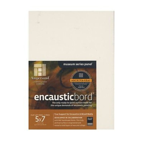 Ampersand Encausticbord 5 In. X 7 In. 1/8 In. Pack Of 3 [Pack Of 3] (3PK-EN057)