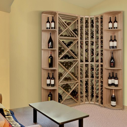 Vinotemp 105-Bottle Pine Floor Wine Rack