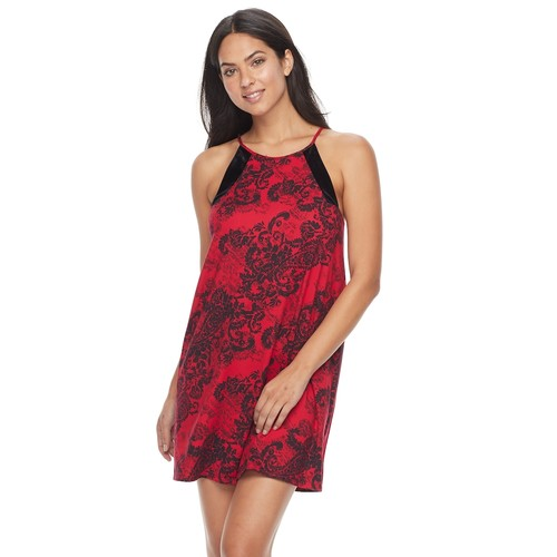 Women's Apt. 9 Must-Have Chemise: Red Floral Chemise